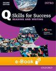 Q Skills for Success Intro Level Reading & Writing e-book cover