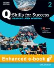 Q Skills for Success Level 2 Reading & Writing Student e-book with iQ Online cover