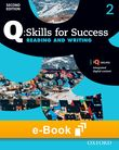 Q Skills for Success Level 2 Reading & Writing e-book cover