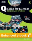Q Skills for Success Level 3 Reading & Writing Student e-book with iQ Online cover