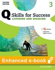Q Skills for Success Level 3 Listening & Speaking Student e-book with iQ Online cover