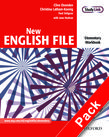 New English File Elementary Workbook with key and MultiROM Pack cover