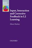 Input, Interaction and Corrective Feedback in L2 Learning e-book for Kindle cover