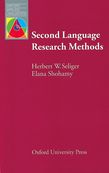 Second Language Research Methods e-Book for Kindle cover