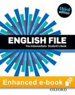 English File third edition Pre-Intermediate Student's Book e-Book cover