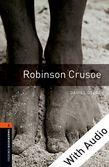 Oxford Bookworms Library Level 2: Robinson Crusoe e-book with audio cover