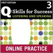 Q Skills for Success Listening and Speaking 3 Student Online Practice cover