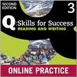 Q Skills for Success Level 3 Reading & Writing Student Online Practice cover