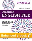 American English File Starter e-book (Student Book/Workbook Multi-Pack A) cover
