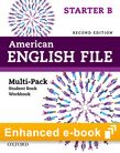 American English File Starter e-book (Student Book/Workbook Multi-Pack B) cover