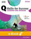 Q Skills for Success Intro Level Listening & Speaking e-book cover
