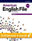 American English File Starter Student Book e-book cover
