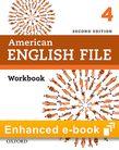 American English File Level 4 Workbook e-book cover