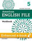 American English File Level 5 Workbook e-book cover