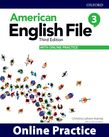 American English File Level 3 Online Practice cover