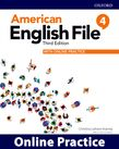 American English File Level 4 Online Practice cover