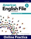 American English File Level 5 Online Practice cover