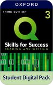 Q: Skills for Success Level 3 Reading and Writing Student Book e-book with iQ Online Practice cover