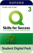 Q: Skills for Success Level 3 Listening and Speaking Student Book e-book with iQ Online Practice cover