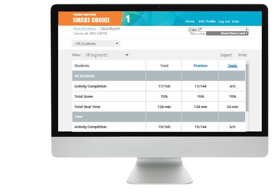 Screenshot of Smart Choice Monitor