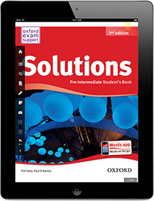 Solutions e-book on iPad